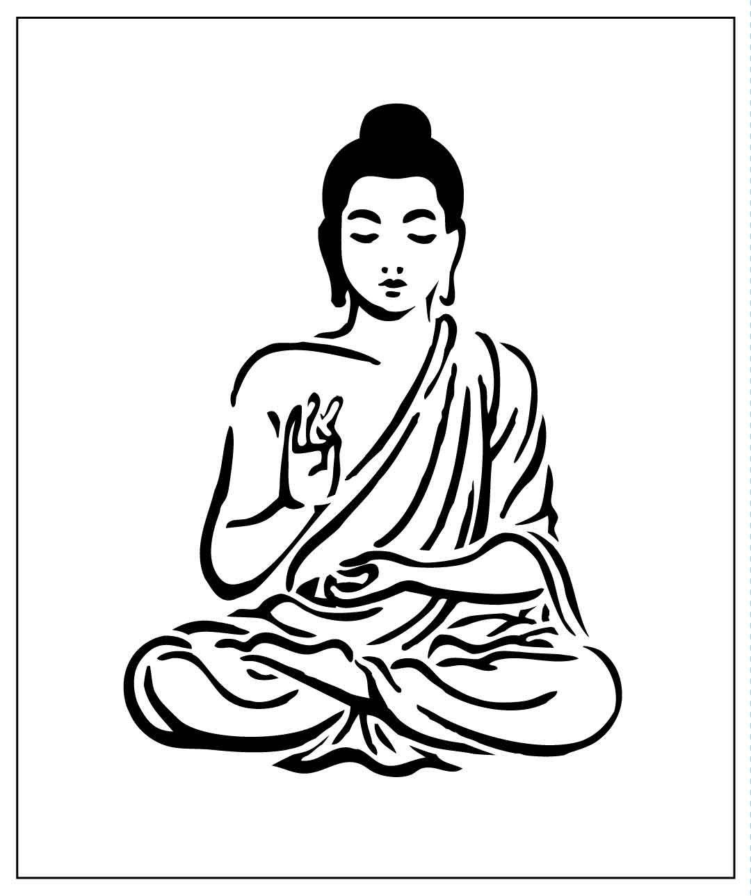 Pochoir Bouddha Gratuit Imprimer Gamboahinestrosa