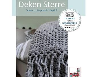 Crochet pattern Blanket ' sterrebeek '