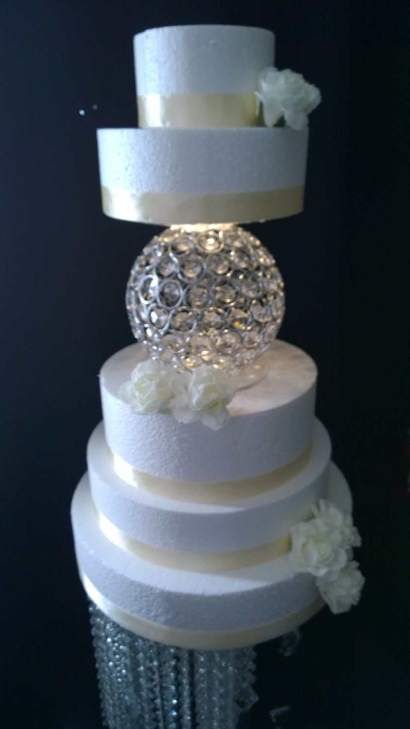 Sphere Shape Crystal Cake Separator 2 Sizes - Sphere Wedding Cake