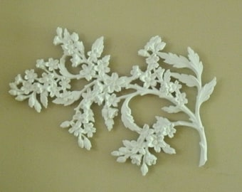 Vintage Cherry Blossom Branch Wall Hanging
