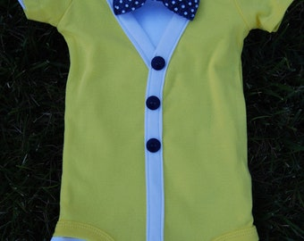 Baby Boy Cardigan and Bow Tie Outfit