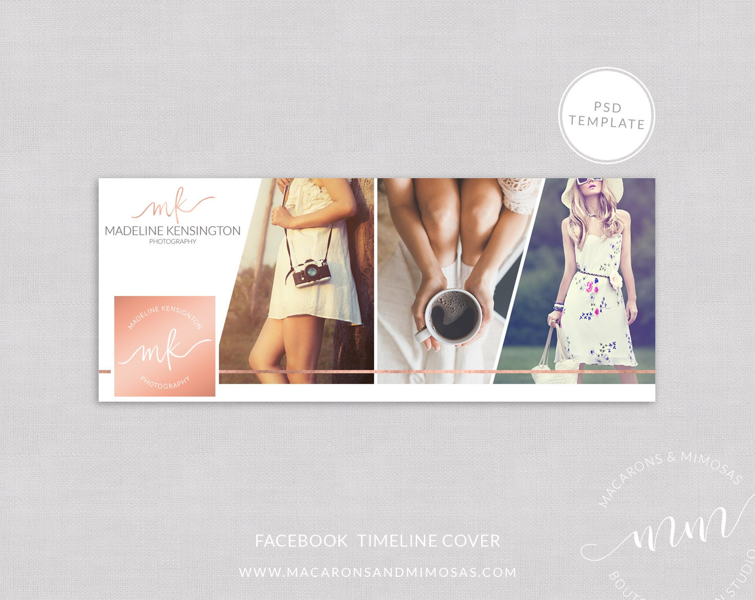 Facebook Timeline Cover Rose Gold Photographer Website Blog