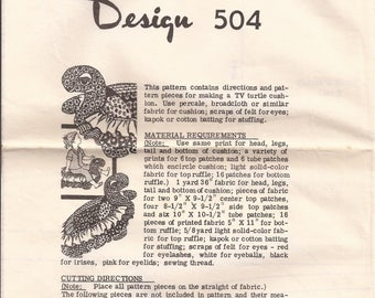 504 TV Turtle Pattern Vintage 1970's