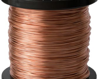 Unplated Copper Round Wire 1kg Spool