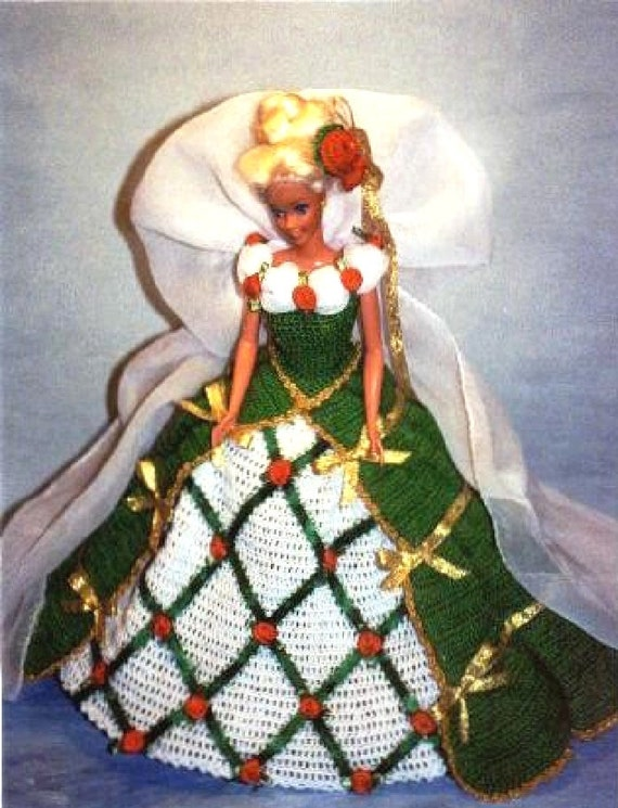 Häkeln Sie Mode Puppe Barbie Pattern 318 Urlaub Kleid