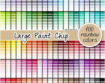 SALE 100 paint chip digital paper rainbow ombre digital paper ombre printable ombre background 12x12 pastel ombre rainbow ombre sticker