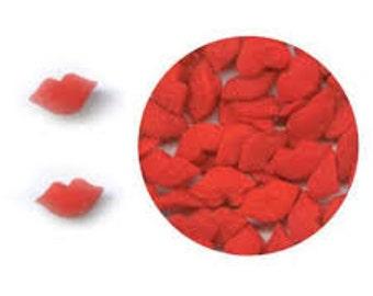 Red Kissing Lips - edible confetti