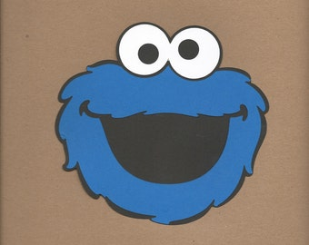 1- 5.5 inch tall Cookie Monster face Cricut Die Cut