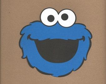 1 - 8 pulgadas de alto Cookie Monster cara Cricut morir