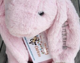 Monogrammed Easter Bunny, Monogrammed Bunny, Personalized Easter Bunny, Personalized Bunny, Plush Easter Bunny, Easter gift, babys easter