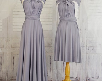 Lilac grey  Infinity Dress Convertible Formal,wrap dress ,bridesmaid dress,party dress Evening dress B11#C11#