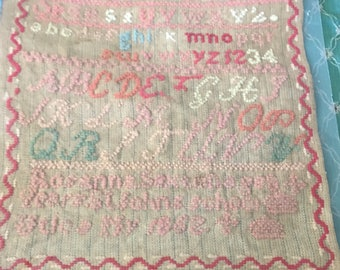Antique 1862 sampler textile Wonderful