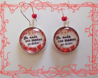 Earrings mother who rips