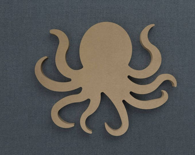 Featured listing image: Octopus - Nautical Wood Cutout - Unfinished Sign