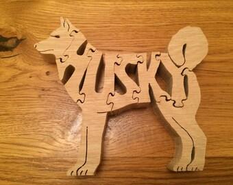Husky Puzzle Oak