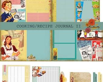 Cooking/Recipe Journal II (Digital paper)