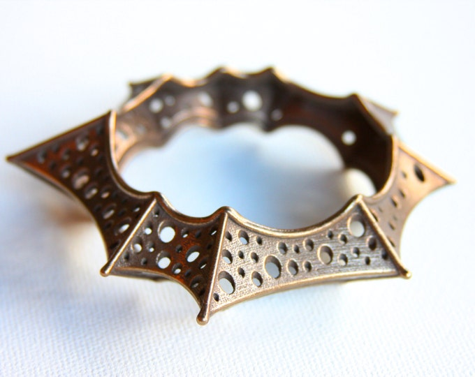 """Trypostar"" Bangle in Bronze-Infused Steel"