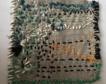 Boro Style Repair Patch A Hand Embroidery for Clothing, Bags, Quilts, Story Art Up-cycling Clothing