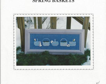 "Clearance - ""Spring Baskets""  Counted Cross Stitch Chart by Sekas & Co."