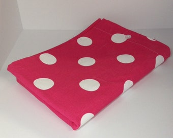 Toddler or Crib Duvet comforter cover Premier Prints Candy Pink and white Oxygen Dots