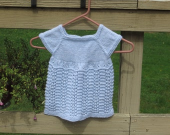 Light Blue Newborn Lace Dress