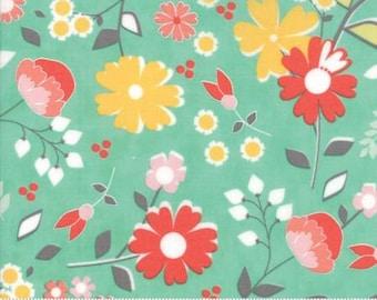 Flower Mill Bloomy Aqua 29030 19 by Corey Yoder - Moda