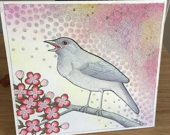 Spirit of the Mourner Nightingale - Original Art