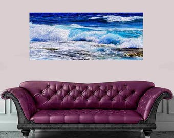 Large Ocean, wave print, wave art, surf decor, surf art, big wave, ocean wave,  coastal wall art, water print, ocean wave photograph