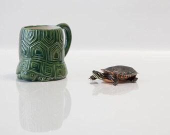 Sea Turtle Decor   Coffee Mug   Sea Turtle   Turtle Gift handmade from my Charleston, SC Studio