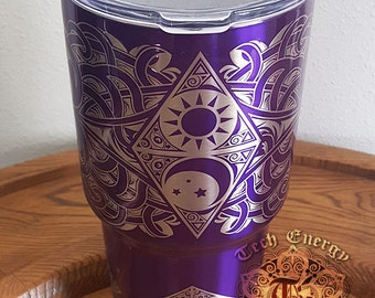 Customizable - 30 oz Sun and Moon Tumbler