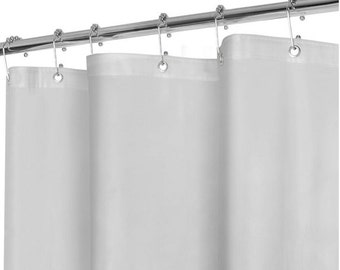 Shower Curtain CHOOSE Cassidy Ticking Stripe Fabric