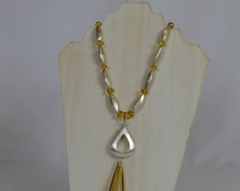 Silver and Gold Crystal Necklace