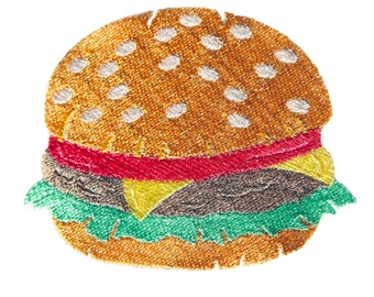 Cheeseburger Machine Embroidery Design
