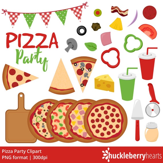 pizza clipart pizza party clip art pizzeria italian rh etsy com pizza party clipart black and white christmas pizza party clipart