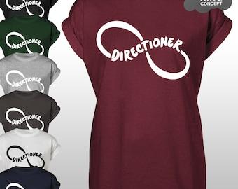 Directioner T-Shirt Top 1D Fangirl Fan Concert Tee Shirt Top Tshirt Vest Tank