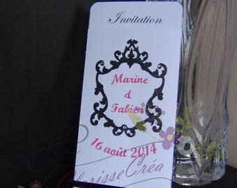 baroque theme wedding invitation