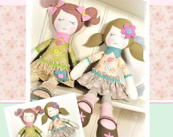 Bella & Trudie Rag Doll Pattern