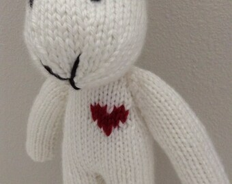 Stuffed Animal - Knitted Bunny - Photo Prop - Stuffed Bunny - Handmade Toy - Soft Toy - Rabbit