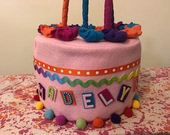 Felt Birthday Cake and Decorations