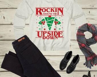 stranger things, stranger things christmas, stranger things sweatshirt, stranger things shirt, stranger thing christmas sweater, upside down