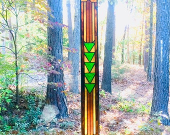 CRAFTSMAN stained glass panel gift glass art home decor art stained glass window suncatcher