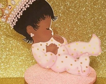 Little Sleeping baby Ethnic Princess table Centerpiece Princess 1st Birthday Party or Baby shower