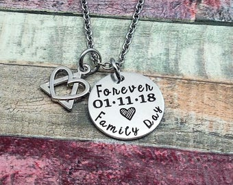 Adoption Jewelry, Custom Adoption gift, Forever Family Day, Adoption day gift, Adoptive Foster Parent, Personalized Mommy Necklace