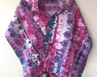 Ice Dyed Cotton/Linen Scarf, #009
