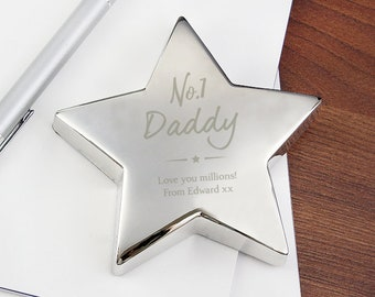 Personalised No. 1 Star Paperweight