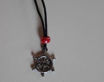 Ship Wheel Charm Necklace