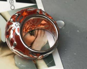 Rosso e Argento, rings in Silver 925, VM ATTANASIO