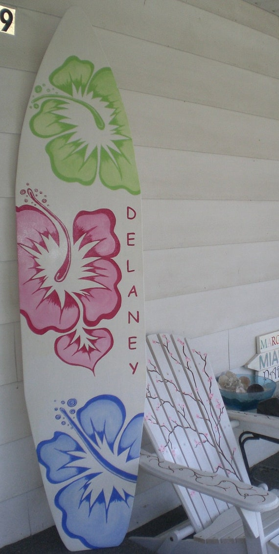 & 6 Foot Wood Hawaiian Surfboard Wall Art Decor or Headboard