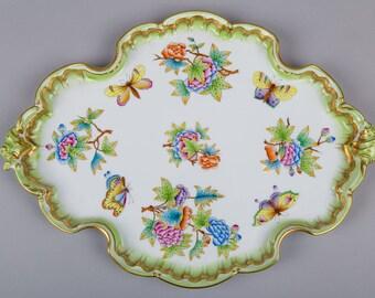 Herend Queen Victoria Baroque Style Platter