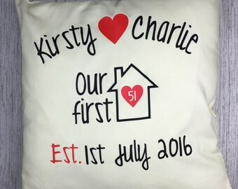Personalised Cushion,New Home, Home Decor, Decorative, New Home Gift